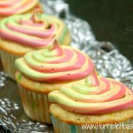 Funfetti Cupcakes with Colorful Frosting